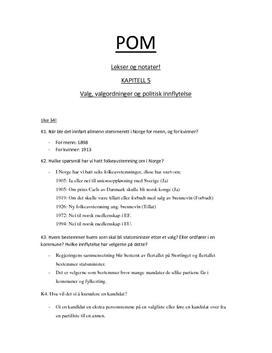 Leksedokument i Politikk og menneskerettigheter