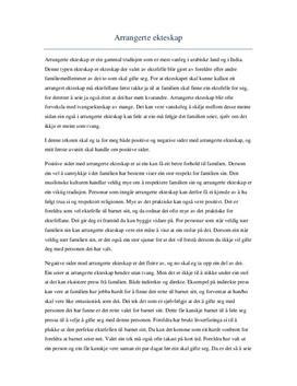 Arrangerte ekteskap | Positive og negative sider
