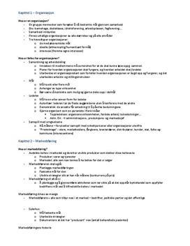 Markedsføring og ledelse 1 | Notater kap. 1-12