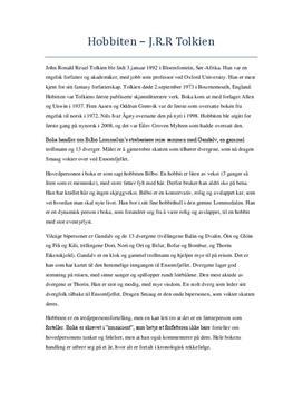 Analyse av Hobbiten