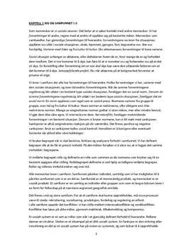 Notater for Sosiologi og sosialantropologi