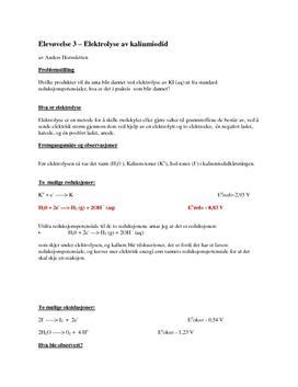 Elektrolyse av kaliumjodid | Rapport