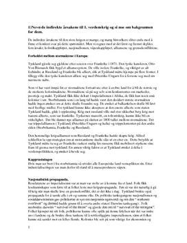 Besvarelse på Prøve i 1. Verdenskrig, Vg3