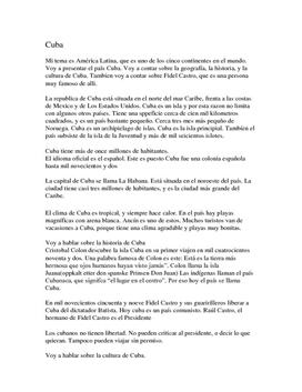 Cuba | Manus på spansk