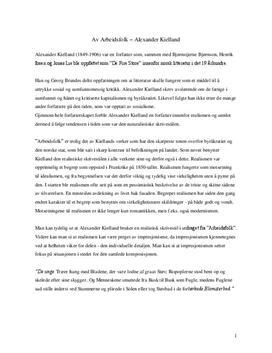 Arbeidsfolk av Alexander Kielland | Analyse