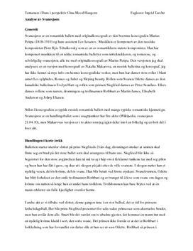 Analyse av svanesjøen som dansestykke