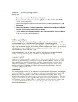 Kapitell 7 - Produksjon og arbeid | Menneske og samfunn
