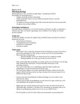 Idrettspsykologi, taktiske valg i ballspill og basistrening | Sammendrag
