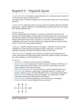 Notater til kapittel 9 - Organisk kjemi