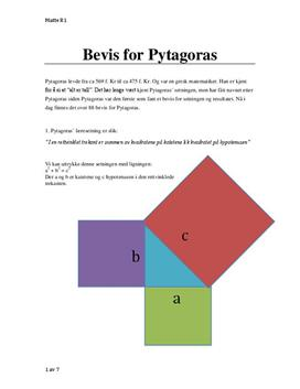 Bevis for Pytagoras setning