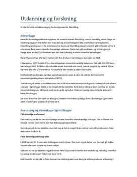 Utdanning og forskning innenfor likestilling