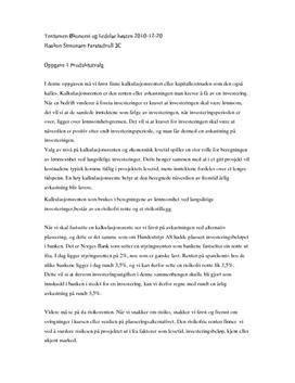 Tentamen Økonomi og ledelse høsten 2010