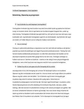 Treningsprinsipper og kosthold | Sammendrag