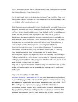 Norges økonomi ved konjukturer, arbeidsledighet og finanspolitikk