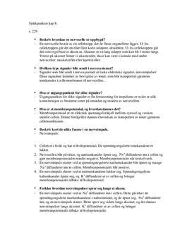 Sjekkpunktertil kap 8 | Kommunikasjonssytemer i mennesket