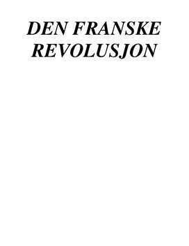 Franske Revolusjon | Prosjektoppgave