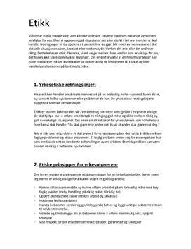 Etikk Helsefagarbeider og helsepersonell