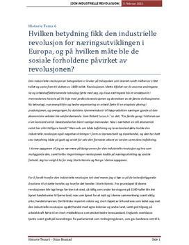Den industrielle revolusjon - Storbritannia og Norge