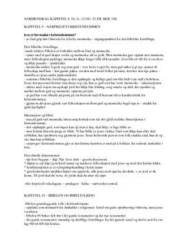 Sammendrag av Tru og Tanke | Kap. 9-13