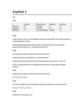 Kjemien stemmer kapittel 1 oppgaver