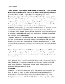 Generell styrketrening | Egentreningsrapport