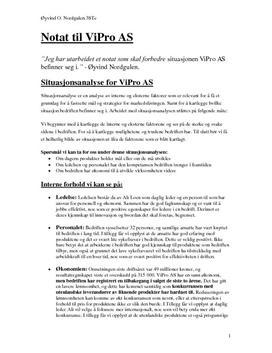 ViPro AS Innovasjon og Internasjonalisering
