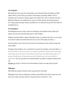 Forretningside: Klokker og smykker