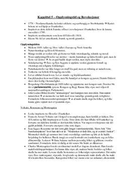 Opplysningstid og revolusjoner Kapittel 5 Notater
