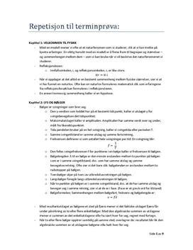 Notater til Rom Stoff Tid Fysikk 1