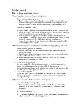 Naturfag 5 grunnbok | Oppsumering