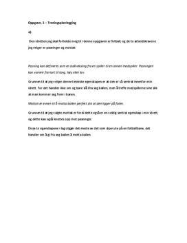 Organisk og mekanisk analyse av pasning og mottak i fotball