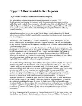 Den industrielle revolusjon - Hovedtrekk