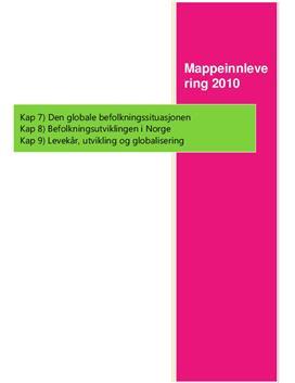 Mappeinnlevering 2010 Kapittel 7 - 9 Geografi