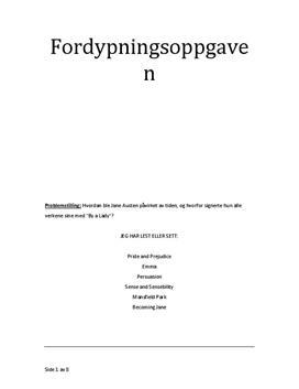 Fordypningsoppgave Jane Austen