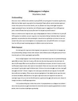 Etikkoppgave: Abort ved voldtekt | Debattartikkel
