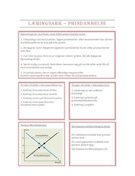 Prisdannelse, læringsark Pareto 2