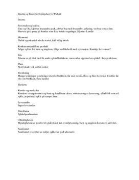 Interne og Eksterne arbeidsbetingelser