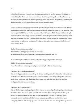 Oppgave 2.2 | Lektor Bergh | Erstatningsrett