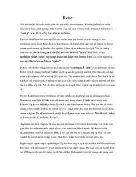Norsk essay oppskrift