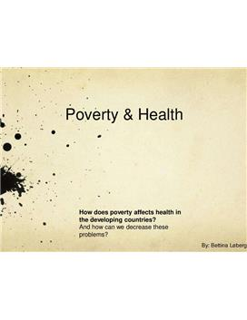 Eksamenspresentasjon om poverty and health