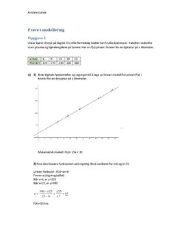 Oppgaver om matematisk modellering (Kap. 4)