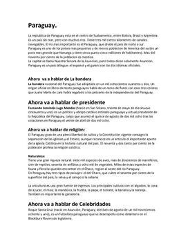 Presentación de Paraguay | Spansk framføring