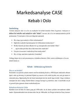 Markedsanalyse Case: Kebabmarkedet i Oslo