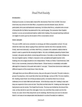 dead poets society movie summary