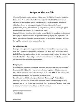 Mio, min Mio av Astrid Lindgren | Analyse