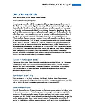 Samfunnsendringer i Europa under opplysningstiden