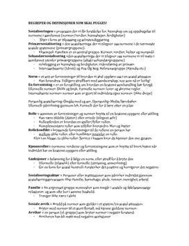 Kapittel 1 - Sosiologi | Individ og fellesskap