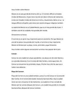 Lugares turísticos en México | Spansk tekst
