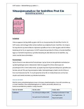 SOFT analyse av Prot Ein