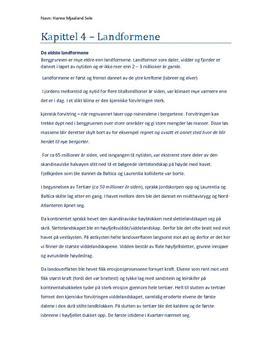 Kapittel 4 - Landformene